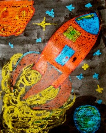 First Grade Painting & Drawing Activities: Crayon Resist Painting