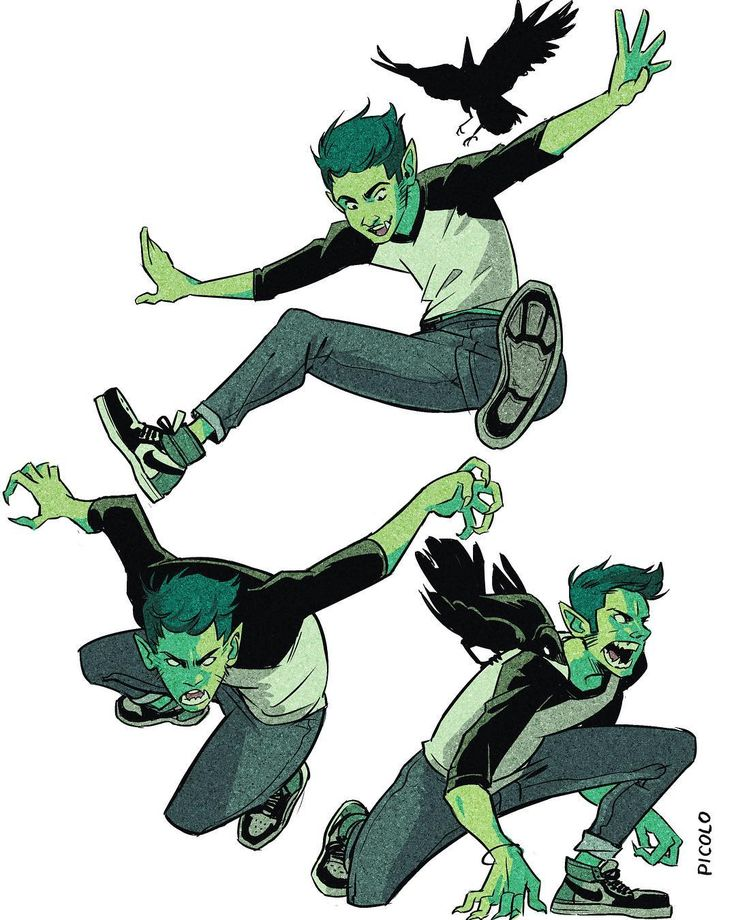 "Beast Boy- Gabriel Picolo (@_picolo) on Instagram: ""Casual Beast Boy warm ups! I'm trying to get the hang of dynamic poses, which one do you prefer?…"""