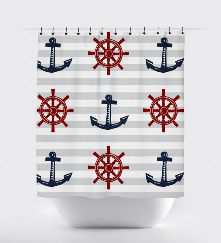 Bathroom Inspiring Nautical Bathroom Decor For Kitchen: Best 25+ Nautical Shower Curtains Ideas On Pinterest