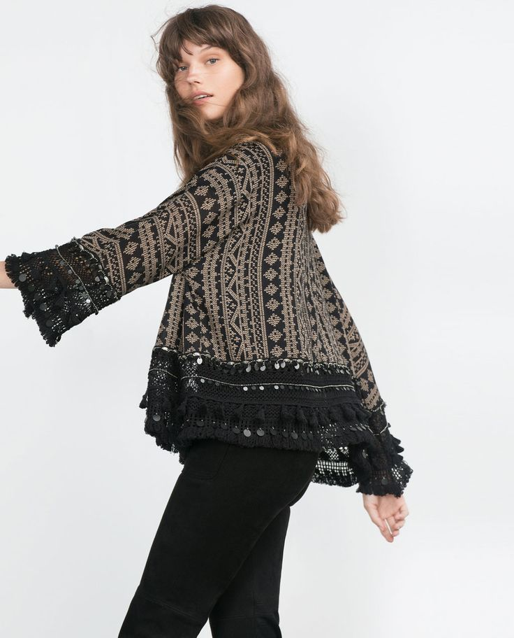 PRINTED KIMONO-Jackets-WOMAN | ZARA United States ...
