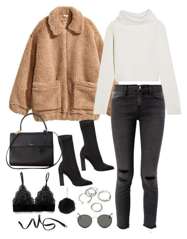 """""""Sem título #5064"""" by fashionnfacts ❤ liked on Polyvore featuring H&M, J Brand, Haider Ackermann, Calvin Klein Collection, Yves Saint Laurent, Ray-Ban, Topshop and Forever 21"""