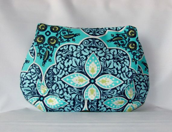 Clutch Bag with Magnetic Snap Pressed Flowers by MintChocolat #etsy #handmade #giftidea