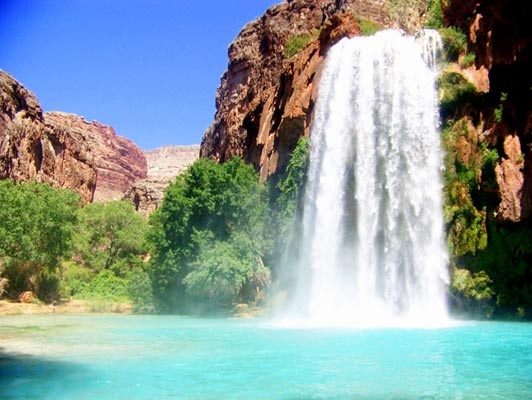Pool bei den Havasu Falls in Arizona