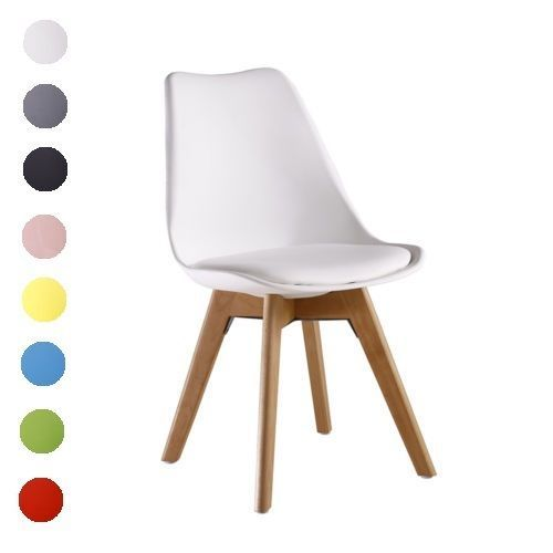 Lorenzo Dining Chair - Eiffel Inspired - Solid Wood + ABS Plastic + Padded Seat  | eBay