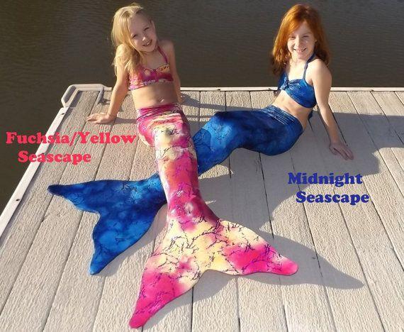 Mermaid Tail with Monofin. 16 Colors. Mermaid by CoralSeasMermaid