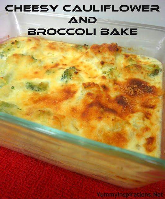 Yummy Inspirations: Cheesy Cauliflower and Broccoli Bake - Phase 3 #omni #diet
