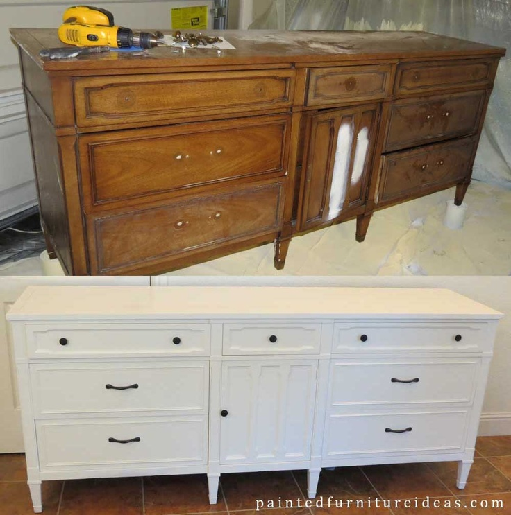 Drexel Dresser Makeover White Pictures Of Dresser