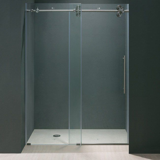Vigo 48 Inch Frameless Shower Door 3 8 Inch Clear Glass With Stainless Steel Hardware Vg6041stcl4874 New Bathroom Style In 2021 Frameless Shower Doors Shower Doors Frameless Shower 48 inch glass shower door