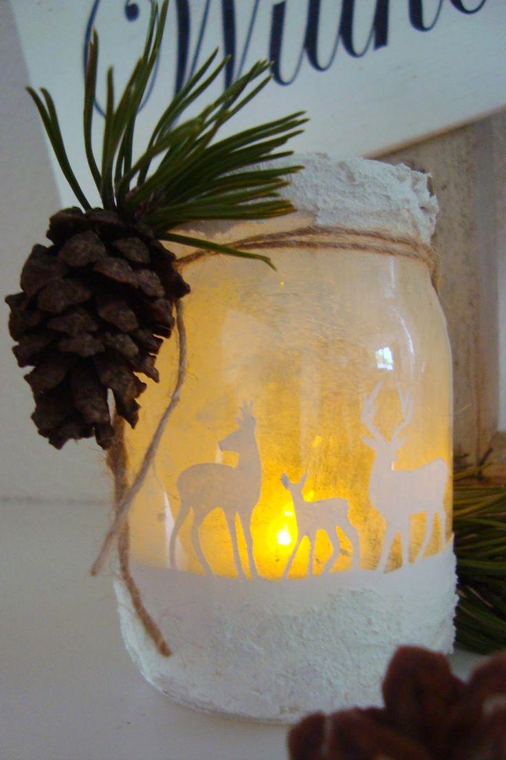 Kleefalter: DIY: Windlicht mit weihnächtlichen Motiven