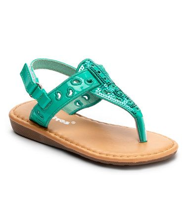 Look at this #zulilyfind! Teal Sequin Sandal by Ositos Shoes #zulilyfinds