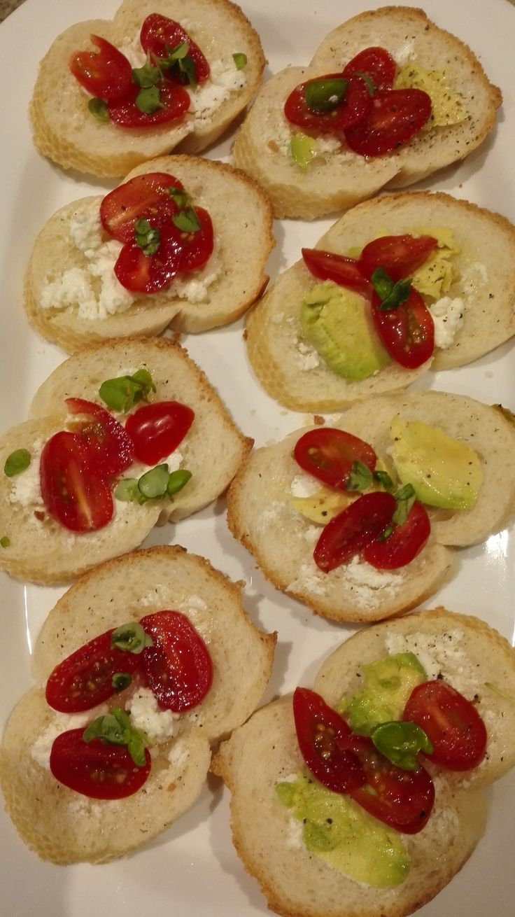 Entree made out of goat cheese, mini tomatoes and avocdo. Thanks to my lovely…