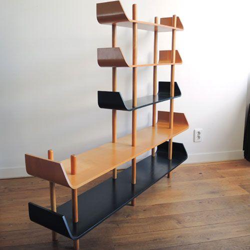 Willem Lutjens plywood bookcase Gouda den Boer 1953 | TSOTA