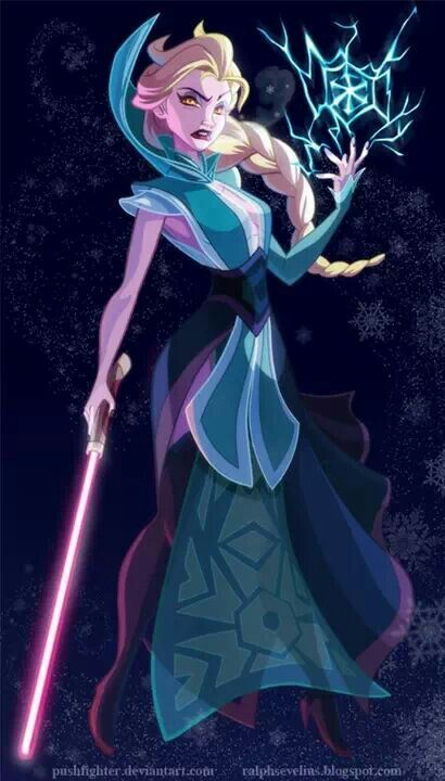 Elsa as Sithe lord