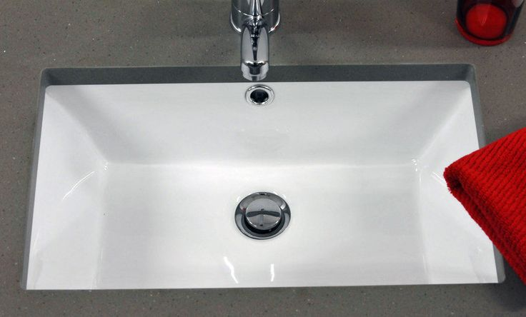 This High Quality Valongo Inset Mounted Rectangular Ceramic Wash Basin is perfect for most sized rooms, ensuites and cloakrooms. This basin is to be fastened under a top / cut out in a counter or worktop. | eBay!