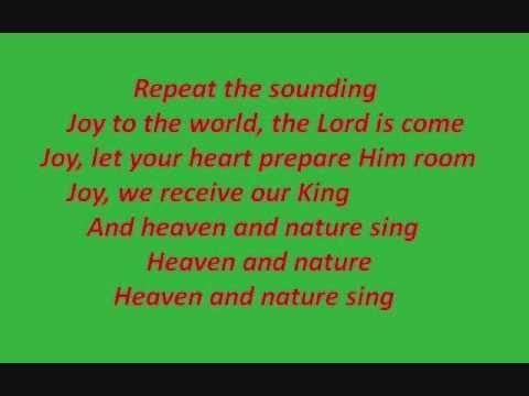Joy To The World lyrics By Avalon - YouTube   Music in 2019