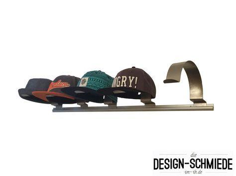 Kleiderbügel - Edelstahl Cap Halter Schirmmützenhalter Capi Hut - ein Designerstück von die-design-schmiede bei DaWanda