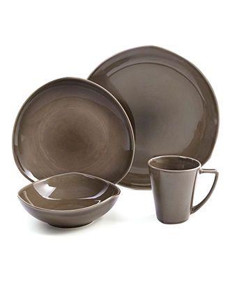 Nambe Dinnerware, Tri Corner Espresso 4 Piece Place Setting - Casual Dinnerware - Dining & Entertaining - Macy's
