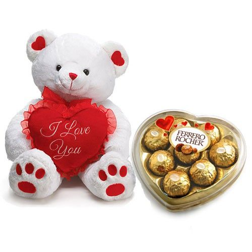 Surprise Your Love with Chocolates & Teddy! Perfectly romantic. #teddy #onlinegift #chocolate