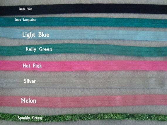 Set of Three Skinny Shimmery Soft Elastic Head by UnPetitPapillon, $4.50