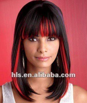 experto negro cabello rojo
