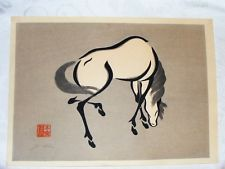 Horse in ink