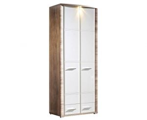 REG2D2S/20/8 FLAME tall cabinet. Start on your quest for a clutter-free home with this space-saving tall cabinet. Tall enough to maximize vertical space but not so tall that it overwhelms, this makes for an ideal storage option for supplies in small rooms or narrow areas. Hinges with integrated dampers ensure the doors close slowly, silently and softly. Polish Brw Modern Furniture Store in London, United Kingdom #furniture #polish #brw #tallcabinet #cabinet