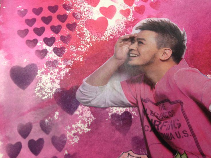 Love Tim's heart shape stencil!!