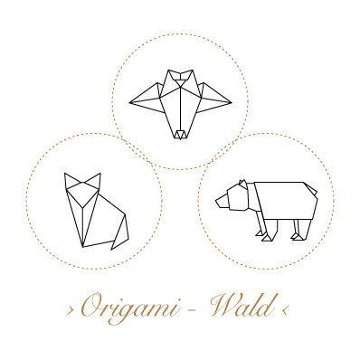 Korkstempel ›Origami – Wald‹ - S.W.W.S.W.