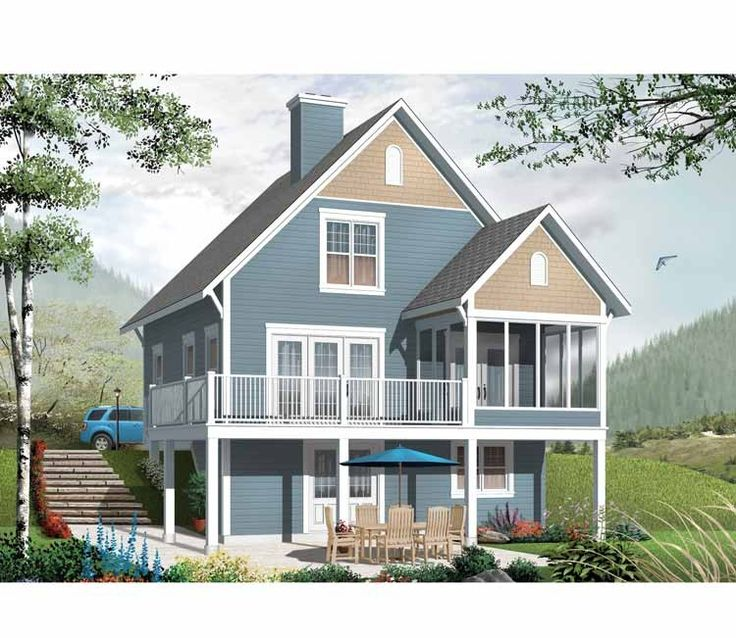 90 best house plans images on pinterest country homes for Cottage house plans with basement
