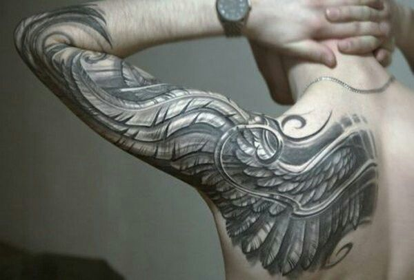 Wing tattoo sleeve