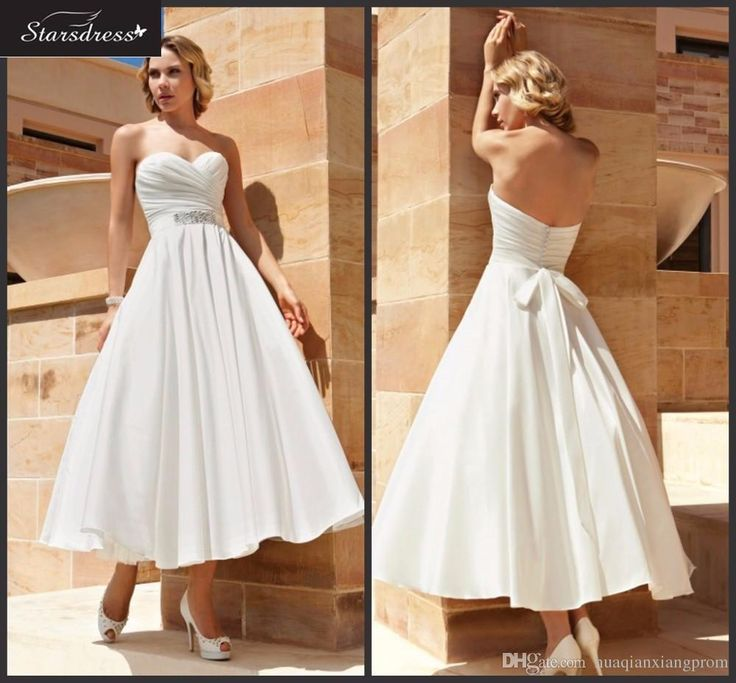New Simple 2016 Std A Line Chiffon Sweetheart Ruched Beaded Waist Bow Sash Short Wedding Dresses Backless Button Bridal Gowns Wedding Dresses Debenhams Wedding Dresses Prices From Huaqianxiangprom, $75.38| Dhgate.Com