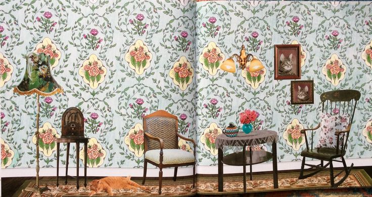 Wallpaper Book. The Year is1930. Coloured by Prue