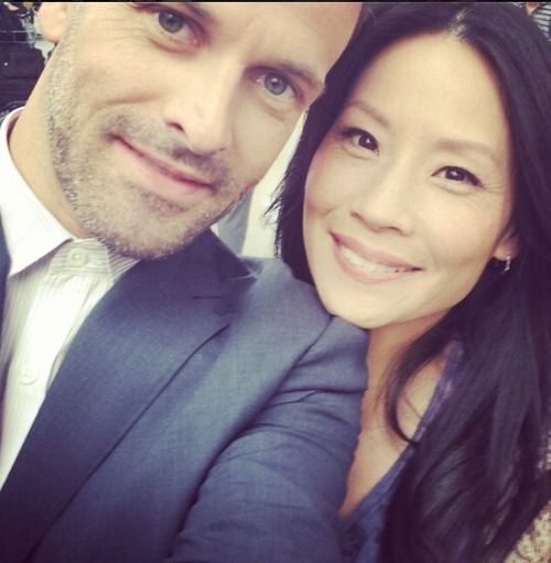 Johnny Lee Miller and Lucy Liu, aka Holmes and Watson from Elementary.