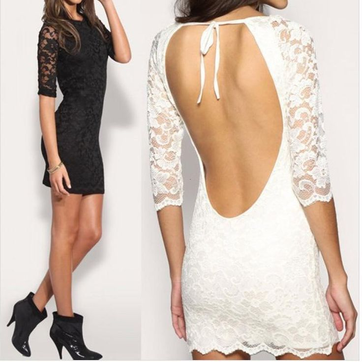 Lace Dress Cheap Casual Sleeve Back Chalaza Summer Woman Halter Dresses Models Fashion For Women Bodycon Sale White Black Women'S Clothing Skirt Quinceanera Dresses From Gama1234, $6.84| Dhgate.Com