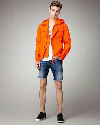 Orange and denim.. Perfect.