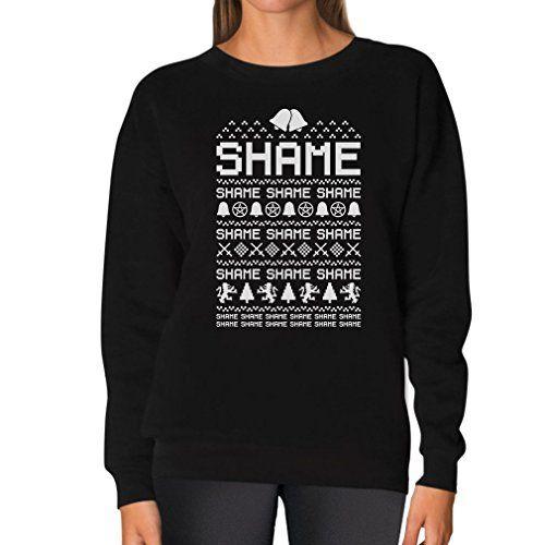 TeeStars - Cersei Walk of SHAME - Funny Ugly Christmas Sweater Women Sweatshirt XX-Large Black