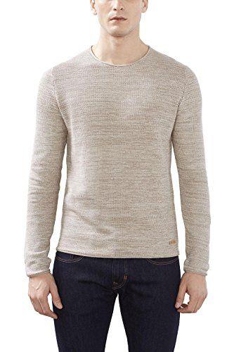 #edc by #ESPRIT #Herren #Pullover #126CC2I013, #Beige #(Beige 270), #X #Small edc by ESPRIT Herren Pullover 126CC2I013, Beige (Beige 270), X-Small, , Trendiger edc Pullover aus hochwertiger Baumwolle mit angesagter Struktur, Slim Fit (körpernaher Schnitt), , ,
