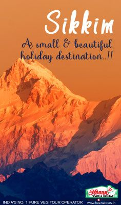 Sikkim - A small & beautiful holiday destination of India. This sub tropical, north eastern state is a holiday makers' destination that offers a perfect get-away from our busy cities. Our Sikkim tour packages are designed keeping all your needs in mind and help you relax in this wonderful destination.