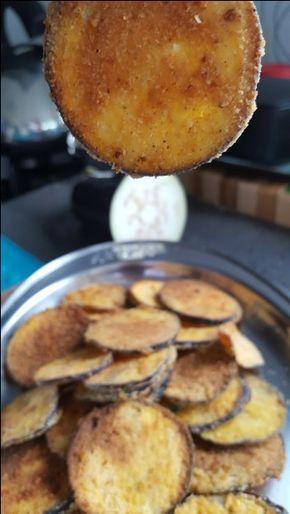 Berinjela crocante, feita no forno! Opção saudável pra hora da fome! :)