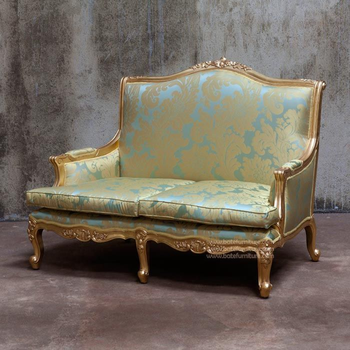 Buy Louis Xv Sofa 2 Seater Gold Leaf Mahogany Antique