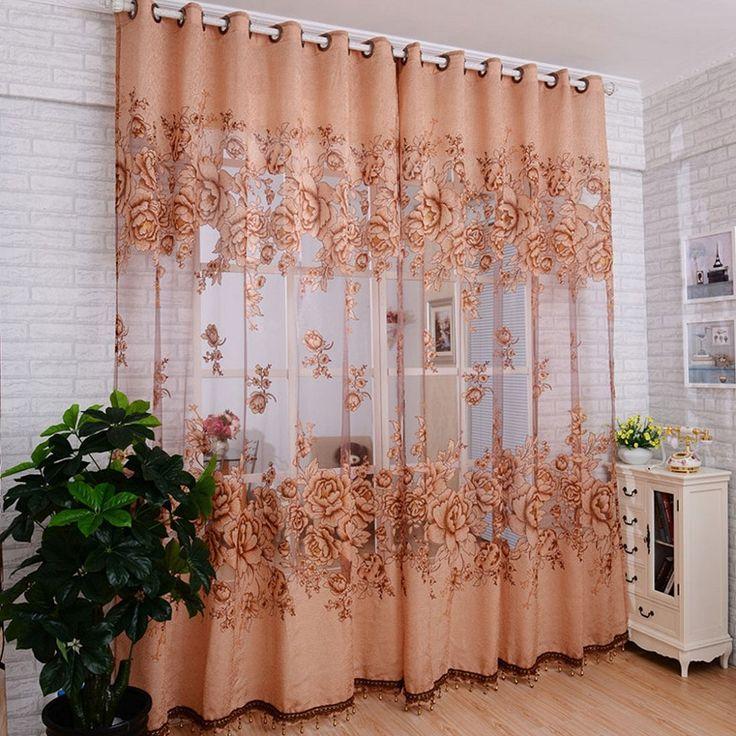 Gentil Amazon.com   Binmer(TM)Window Curtains Door Curtain Mordern Room Floral  Tulle