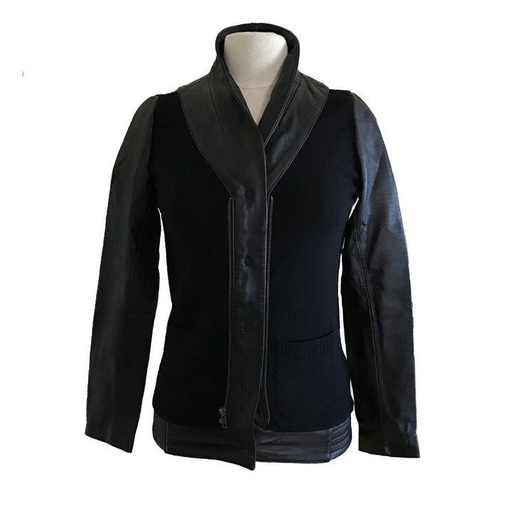 ERIN WASSON X RVCA Cashmere/Leather Women Sweater Jacket SIZE S #ERINWASSONXRVCA #SWEATERJACKET #Casual
