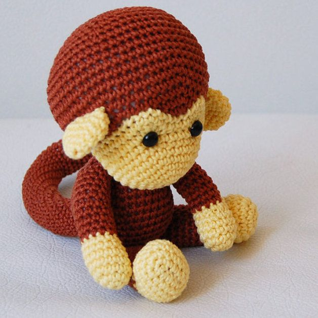 Amigurumi Monkey Patron Gratis : Amigurumi Monkey Pattern (Hakelanleitung)