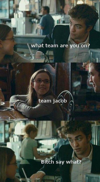 Everybody better be on team Edward