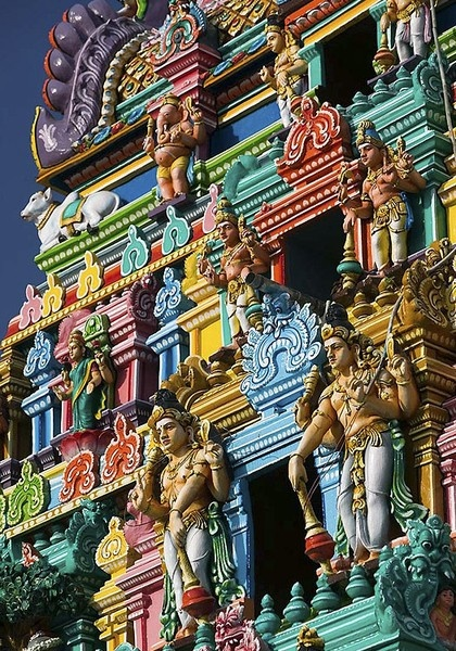 Kapaleeshwarar Temple, Chennai, India. Awesome handiwork- even better in person