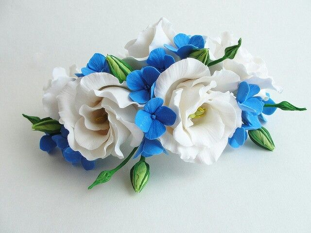 Flowers comb. Handmade flowers. Flowers. Summer. Wedding accessories. Wedding. Handmade flowers. Handmade.
