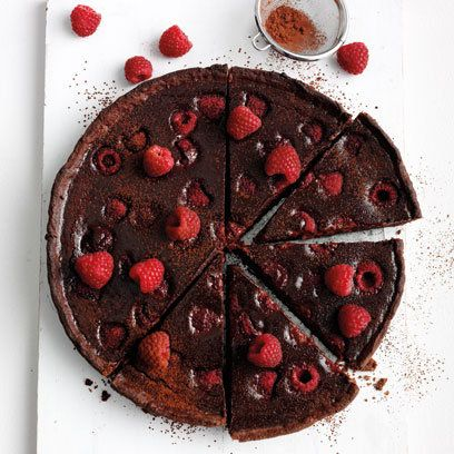 Chocolate and raspberry tart | chocolate recipes | Red Online