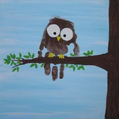 Handprint Owl | Fun Family Crafts - Berry's Children Dental | #Mitchellville #Bowie | #MD | http://www.berrychildrendental.com/