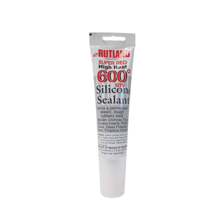 2.3 fl. oz. 600°F RTV Silicone Sealant Red Tube