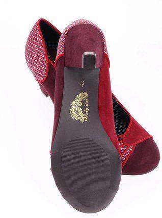 Ruby Shoo - Červené lodičky na nižším podpatku  Maggie - 1